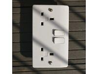 3x white double plug sockets 25mm - FREE