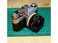 Canon AE-1 with 50mm f1.8 lens