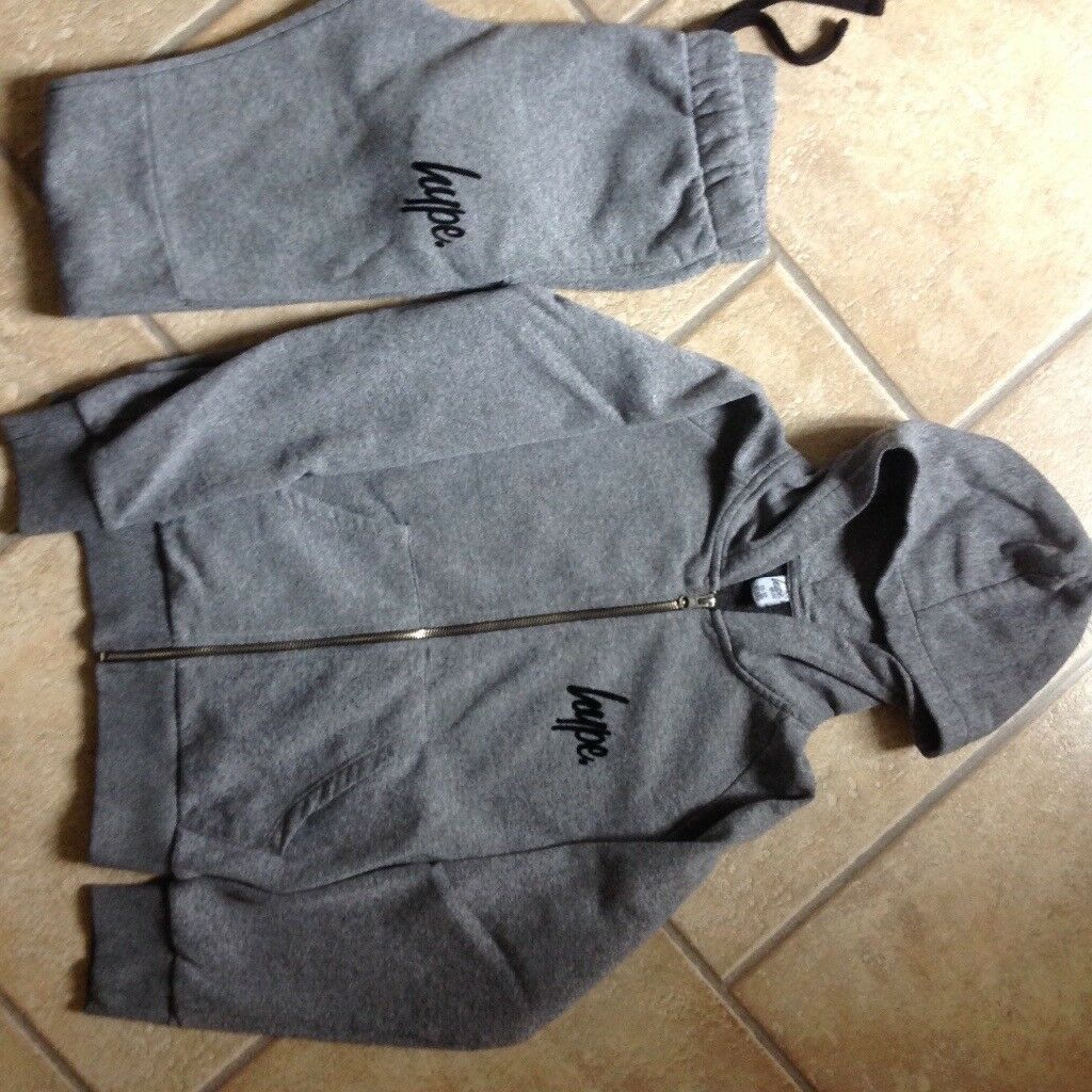 Hype boys age 11-12 years hoodie + joggers + sweatshirt