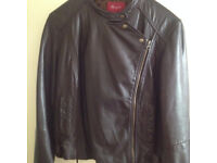 Brand new Monsoon real leather woman's jacket in brown colour for only £20