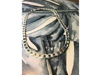 """Silver flat chain link Necklace 20"""""""