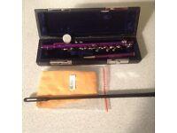 Piccolo Andoer half size C key flute. Wigan