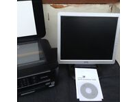 Printer&Monitor with instructions