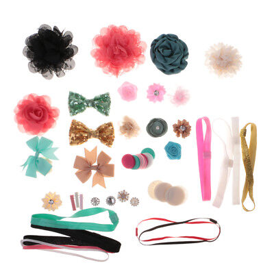 DIY Baby Girl Headwear Headband Barrette Kit Flower Bow Band Craft Hair Clip - Diy Headband Kit
