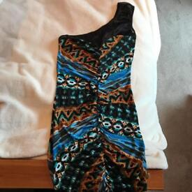 Miss Selfridge one shoulder dress size small