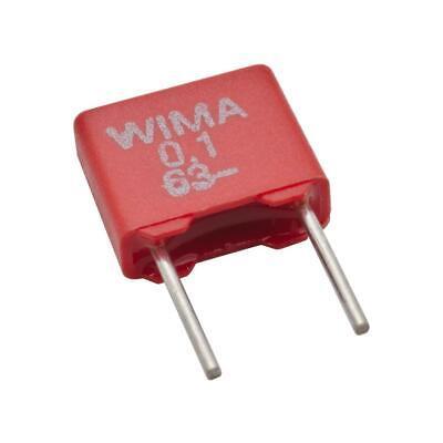 Wima MKS2-1.0//63//10 1uF 63VDC 10/% Polyester PET Film Capacitor Radial⚡