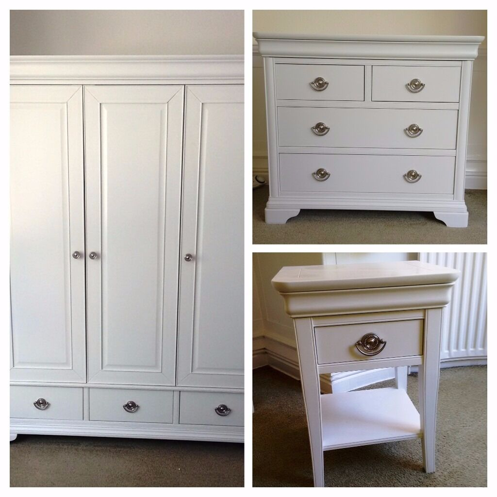 Chantilly White Cotswold Country Co Bedroom Furniture Wardrobe Chest Of Draws And Bedside