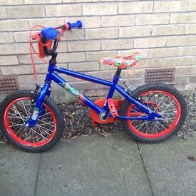 "Boys Marvel Heroes 16"" Bike. Great bike just outgrown!"