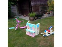 Dolls House, Scooters & Rocking Horse (Individually or as one Lot)