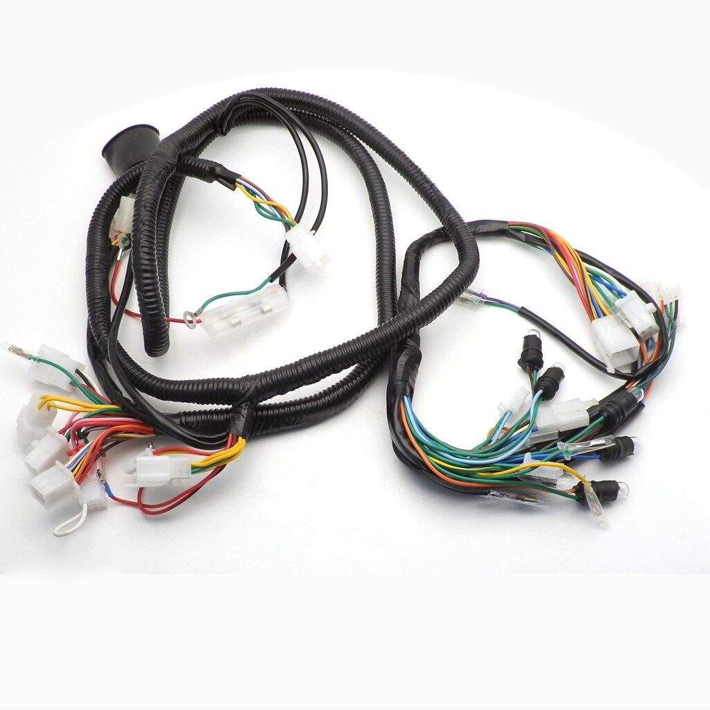 gy6 150cc wire harness wiring assembly scooter moped for 11 pole rh ebay com honda ruckus gy6 150cc wiring harness gy6 150cc go kart wiring harness