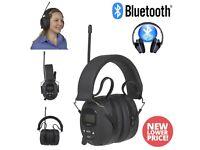 Bluetooth ear defenders, Digital FM Radio and AUX IN Brand New 2 Year Warranty.