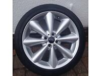 Mini Cooper alloy wheels 17 inch with Continental tyres x 4