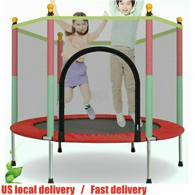 Kids 5 FT Play Trampoline Exercise Jumping Bed Round Safety