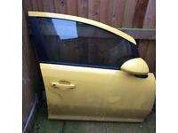 2014 Vauxhall Corsa ltd edition complete door drivers side with mirror mint cont