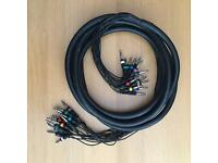 16 way Audio 1/4 Jack loom - 6m