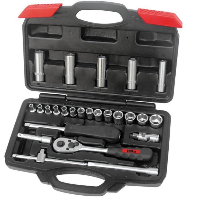 "Hilka 25 Piece 1/4"" Drive socket set - mechanics professional socket set"