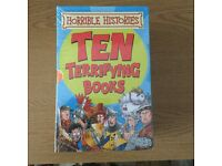 Brand New Ten Terrifying Horrible Histories Books By Terry Deary