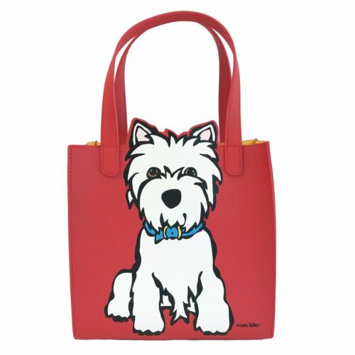 Marc Tetro Saffiano Small Tote Bag Handbag (Westie,Dashund)