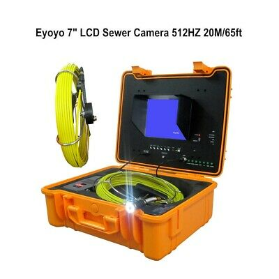 7inch 65ft Drain Inspection System 23mm Industrial Sewer Camera Video 512hz 8gb