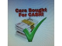 ALL CARS AND VANS BOUGHT FOR CASH TRY US £££££