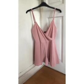 Pretty little thing pink playsuit