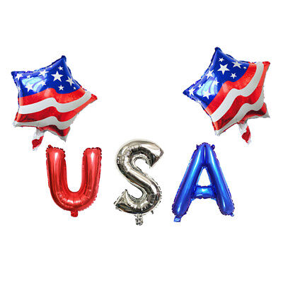 Patriotische Party Ballon Dekoration eingestellt USA Juli 4. Memorial Day