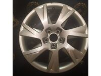 """ALLOY WHEEL 17"""" GENUINE AUDI PART SLIGHT CURB DAMAGE AND VERY LIGHT SCRATCHES"""