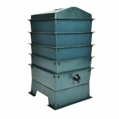 Eco-friendly 4-Tray Worm Factory Composter Waste Bin System Gardening Green New
