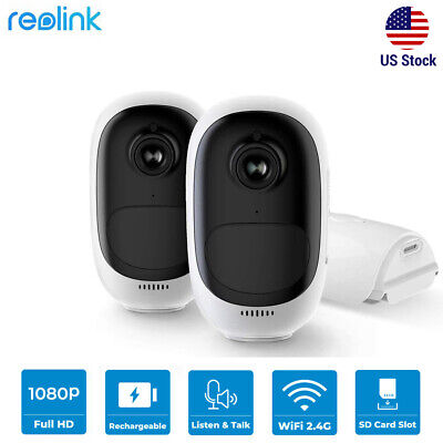 Wire-Free Security Camera 1080P Rechargeable Battery Powered 2.4G WIFI Argus Pro