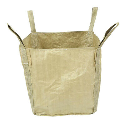 1.5t/ 3300lbs Woven PP Big FIBC Bulk Bag Super Sack 0.9x0.9x1.1m w/ 4 Loops.