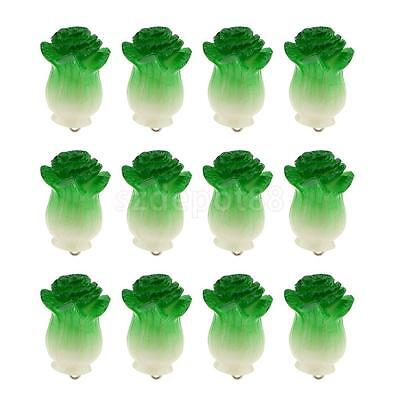 12 Plastic Celery Cabbage Charms Beads Kid Jewellery Bracelet DIY Simulation