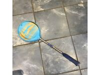 Vintage Slazenger Royal Cup Squash Racket With Head Cover.