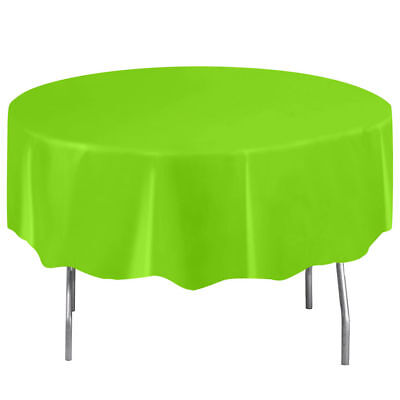 Neon Green Plastic Table Cover - Round - Neon Table Covers