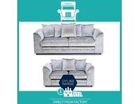 😷Take New🧬2 Seater £169 3 Seater £195 3+2 £295 Corner Sofa £295-Crushed Velvet Jumbo Cord Brand😹