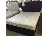 King size divan bed (mattress and base) with matching luxury headboard