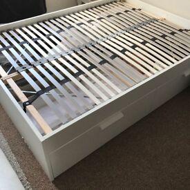 Ikea Brimnes Standard Double w/ Lönset slats. Selling VERY cheap!