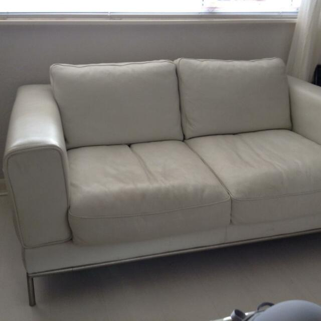 Ikea Off White Leather Sofas In Worsley Manchester Gumtree