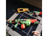 Selection of nurf guns