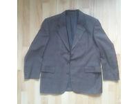 Men's Gents SUIT JACKET NEW WOOL Blazer Dark Grey Size 25 / 48 50 (UK 38 40 42)