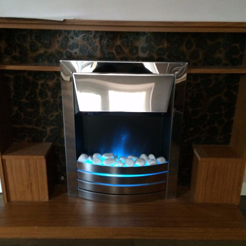 b q electric inset fire blue flame 2kw output white pebbles 25 rh gumtree com blue flame fireplace manual blue flame fireplace gas valve diagram