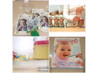 Fill & squeeze weaning set and recipe book