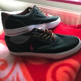 Black and red, Ralph Lauren polo trainers/shoe, size 8