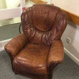 Leather armchair for sale
