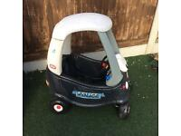 Little tikes police coupe car