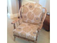 ERCOL COTTAGE SUITE TWO CHAIRS AND A THREE SEATER