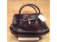 Clarks brown leather Toronto Lake handbag