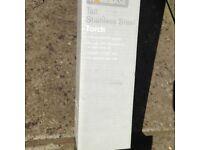 Homebase Tall Stainless Steel Garden Torch