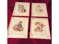 4 LOVELY PRINTS BY S BEATRICE PEARCE IN PINK FRAMES