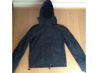 (S) Superdry Windcheater polar coat (small) black and Red barely worn
