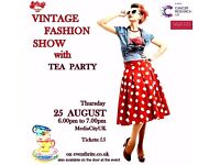 Charity Fashion Show with Vintage Tea Party in aid of Cancer Research UK